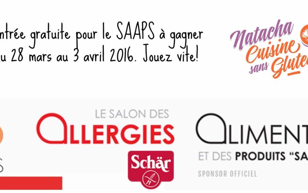 Rendez vous au SAAPS du 8 au 10 avril 2016! (concours terminé)