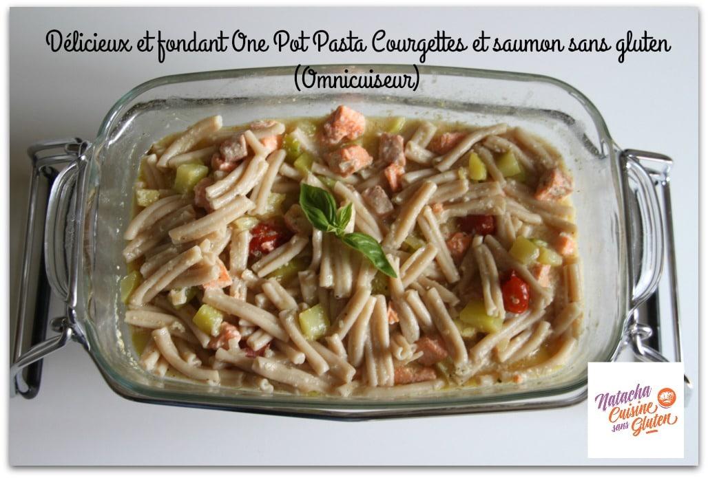 one pot pasta saumon courgettes sans gluten