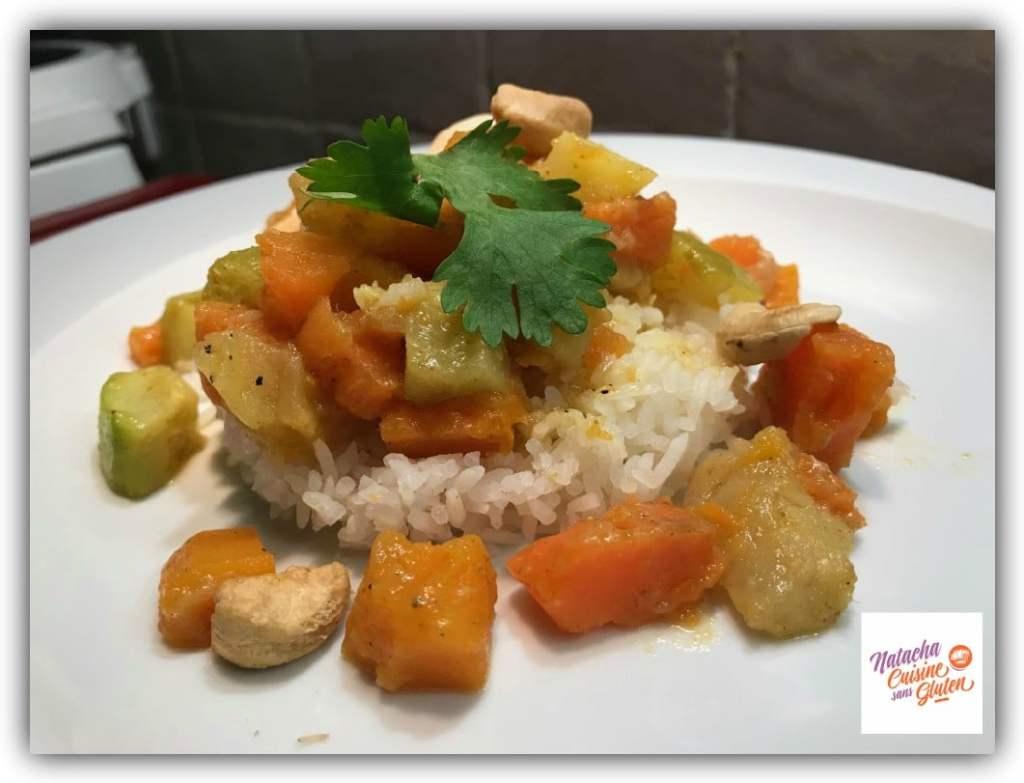 Curry de légumes cuisson douce sans gluten
