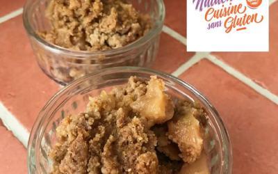 Crumble pommes poires speculos sans gluten