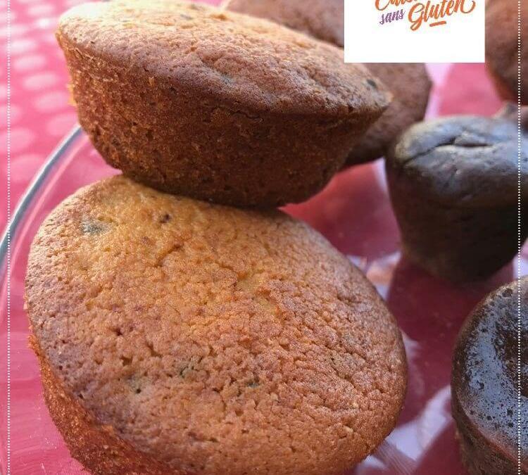 Muffins moelleux aux pépites de chocolat sans gluten