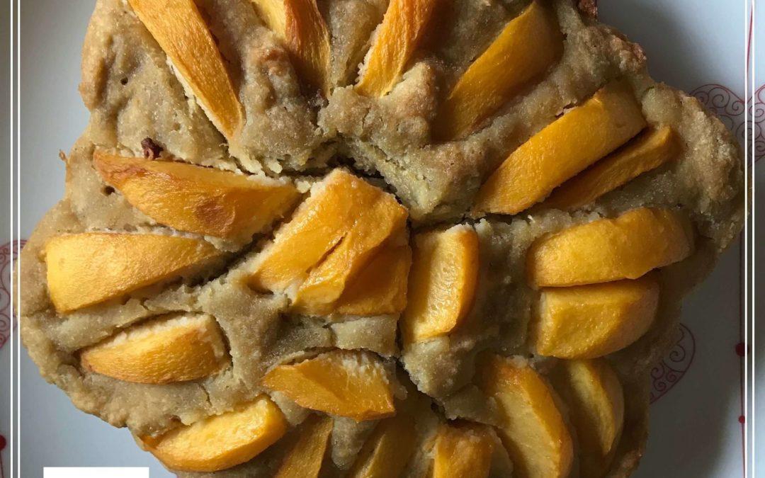 Gâteau moelleux aux pêches sans gluten