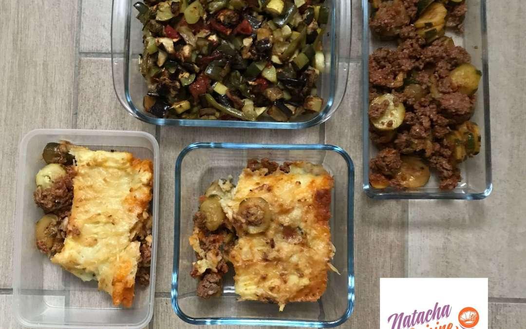 Le batchcooking et l'organisation des menus sans gluten