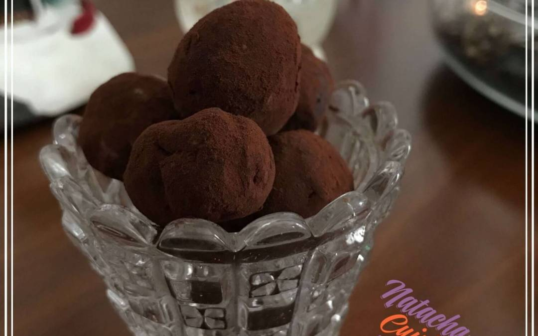 Truffes chocolat et beurre de cacahouète sans gluten