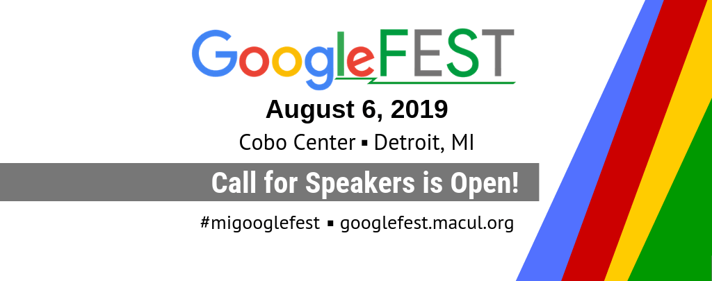 GoogleFEST 2019 Call For Speakers
