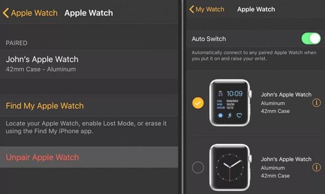 Werkseitige Apple Watch zurücksetzen