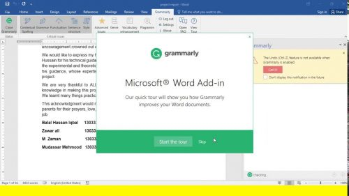 Grammarly for MS Office 6.8.236 Crack Full Serial Version Latest