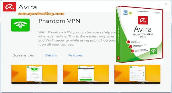 Avira Phantom VPN 2.28.3.20557 Crack + License Key 2020 [MacOs]