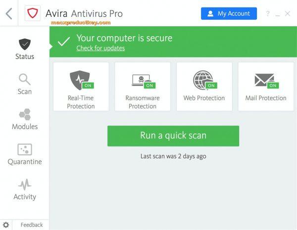 Avira Antivirus Pro 15.0.1908.1548 Crack + License Key 2020 Here!