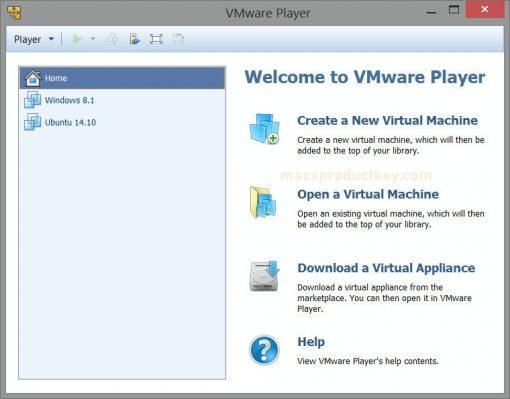 VMware Player 15.5.6 Build 16341506 Crack + Serial Key 2020 [Win/Mac]