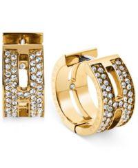 Michael Kors H Huggie Hoop Earrings - Jewelry & Watches ...