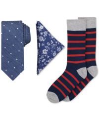 Bar III Men's Tie, Pocket Square & Socks Set, Only at Macy ...