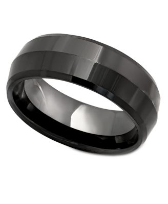 Mens Ring Black Ceramic Ring Rings Jewelry Amp Watches