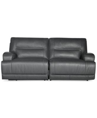 caruso leather 5 piece power motion sectional sofa 3 seater bed mattress couches & sofas - macy's