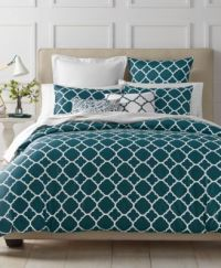 Charter Club Damask Designs Geometric Peacock Bedding ...