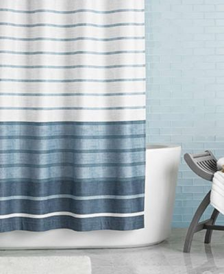 Hotel Collection Colonnade 72 x 84 Extra Long Shower Curtain  Shower Curtains  Accessories