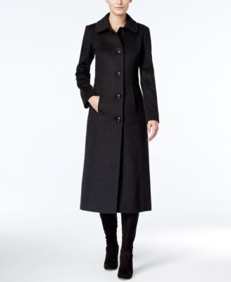 Anne Klein WoolCashmereBlend Maxi Walker Coat  Coats