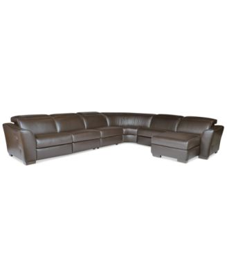 alessandro leather power motion sofa reviews sectional sofas free shipping no tax 6-piece with chaise & 2 ...