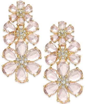 kate spade new york At First Blush Drama Flower Earrings