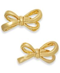 kate spade new york Gold-Tone Bow Stud Earrings - Jewelry ...