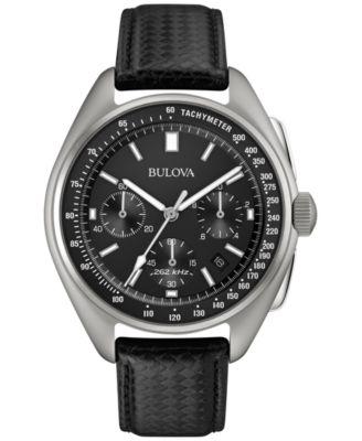 Bulova Mens Special Edition Moon Chronograph Black