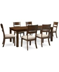 Chandler 7-Pc. Dining Set (Dining Table & 6 Side Chairs ...