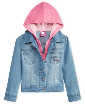 Hello Kitty Little Girls' Hoodie Denim Jacket