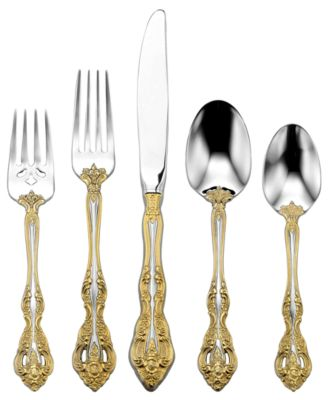 Oneida Golden Michelangelo 5 Piece Place Setting