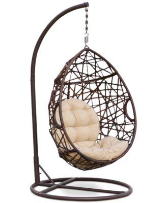 Dustan Wicker Swing Chair, Direct Ship
