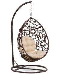 Dustan Wicker Swing Chair, Direct Ship