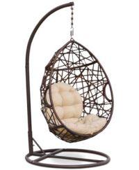 Dustan Wicker Swing Chair, Direct Ship - Furniture - Macy's