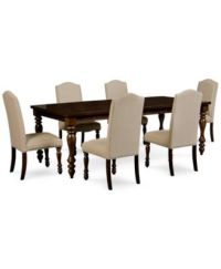 Kelso 7-Pc. Dining Set (Dining Table and 6 Side Chairs ...