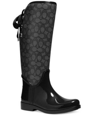 COACH Tristee Rainboots  Boots  Shoes  Macys