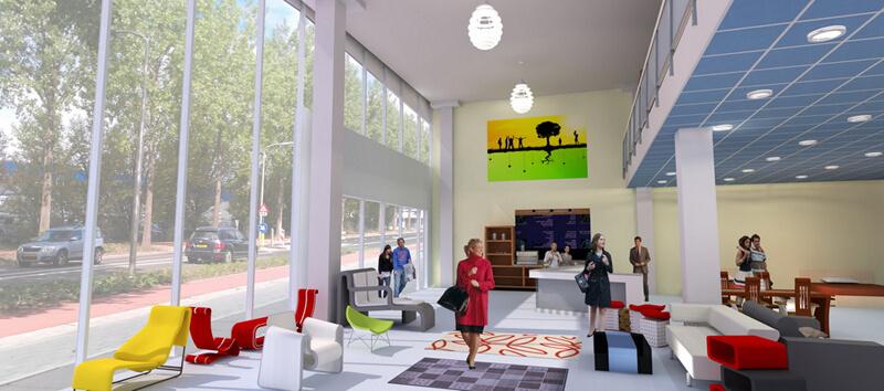 Impressie nieuwe showrooms