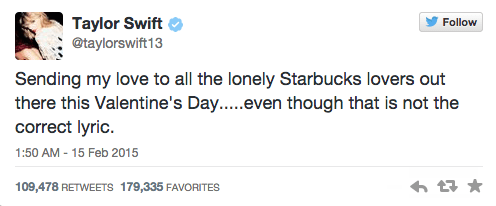 Taylor Swift Tweeted About  Starbucks Lovers  And Starbucks Responded Perfectly