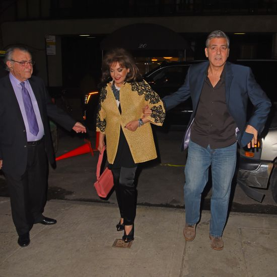 George Clooney joins his in-laws and wife Amal for dinner