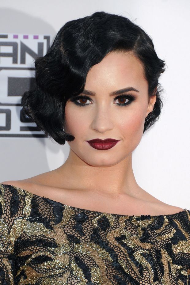 Celebrities arrive at the  2015 American Music Awards  held at Microsoft Theater in Los Angeles Pictured: Demi LovatoRef: SPL1183253  221115  Picture by: AdMedia / Splash NewsSplash News and PicturesLos Angele