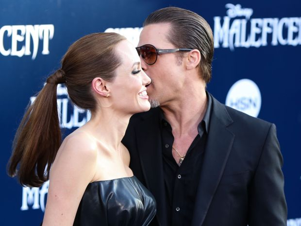 (FILE) Angelina Jolie And Brad Pitt to film 'a love story' movie in Malta