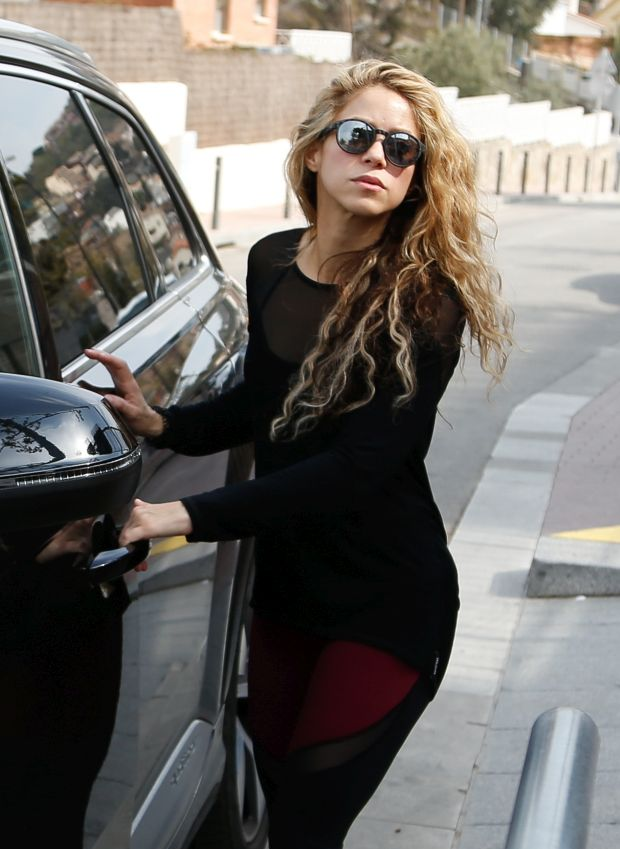 EXCLUSIVE: Shakira and Gerard Pique in Barcelona Spain