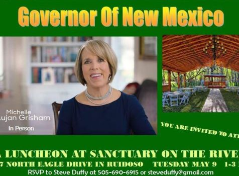 Today I will be in Ruidoso at the Michelle Lujan …