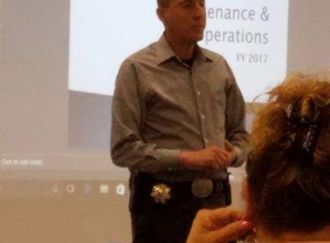 sheriff Armijo addressing the Socorro School Board …