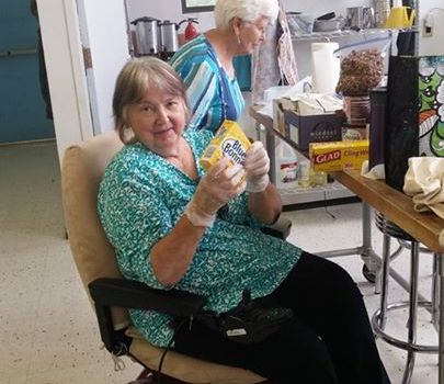 2 wonderful moms baking for the Socorro Democrats …
