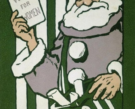 Votes for Women' Christmas Card, 1911. Designed …