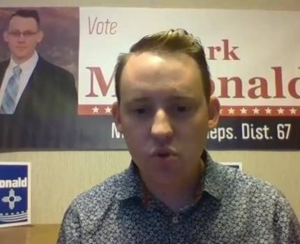 Mark McDonald is the Democratic candidate for NM …