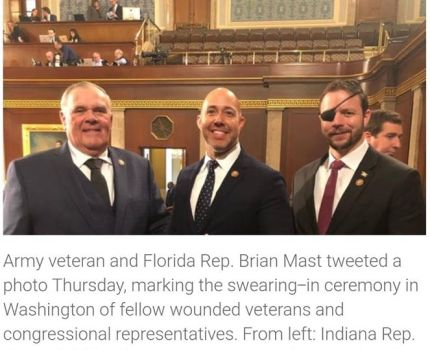 Army veteran and Florida Rep. Brian Mast tweeted a …