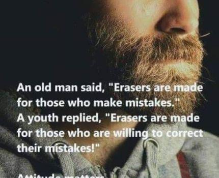 How do you use an eraser?