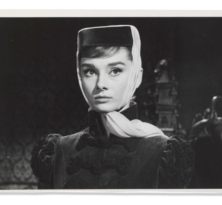Audrey is on the set of War and Peace in this …