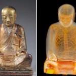 Resonancia revela monje momificado en una escultura de Buda de hace 1000 años