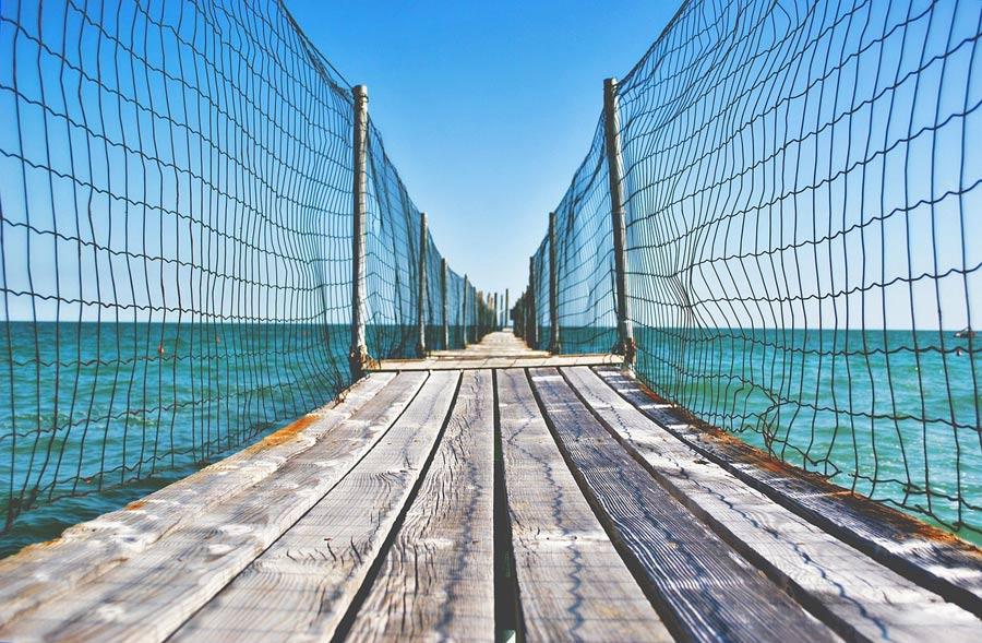 Muelle en el mar