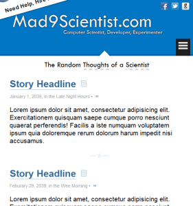 Mad9Scientist.com Theme Version Two